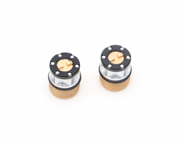 Scale 4WD Center Locking Hub Cap (2) Gold (XT5 Series)