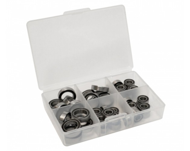 High Performance Full Ball Bearings Set Rubber Sealed (6 Total)