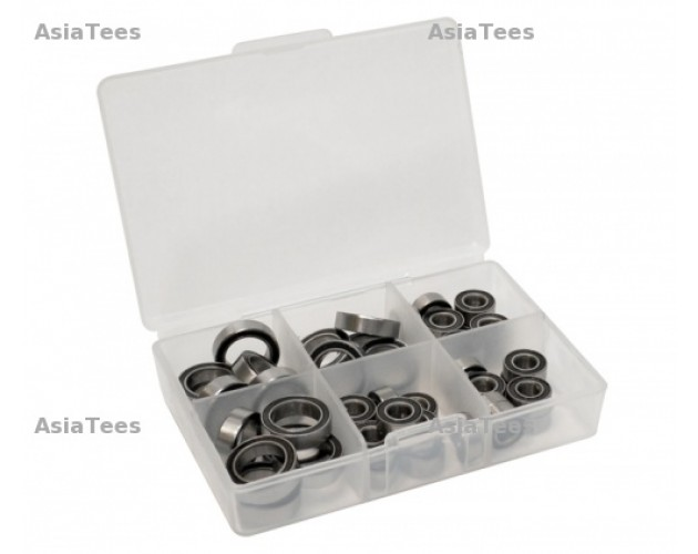 High Performance Full Ball Bearings Set Rubber Sealed (8 Total) -