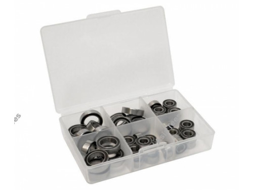 High Performance Full Ball Bearings Set Rubber Sealed (24 Totals)