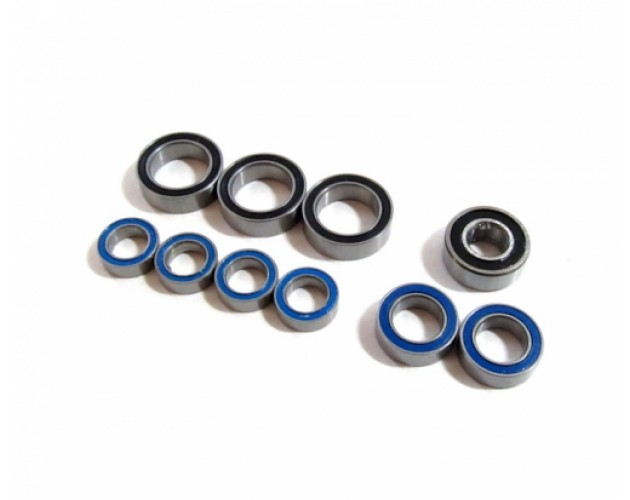 High Performance Full Ball Bearings Set Rubber Sealed (10 Total)