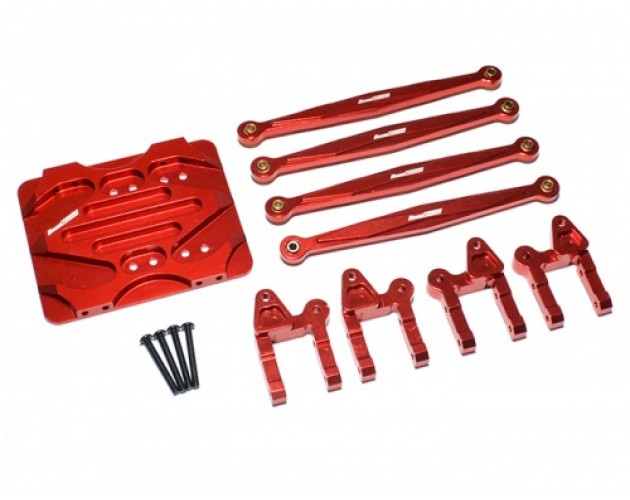 Boom Racing R1 Linkage Combo Set - 3 Items With Tool Box Red