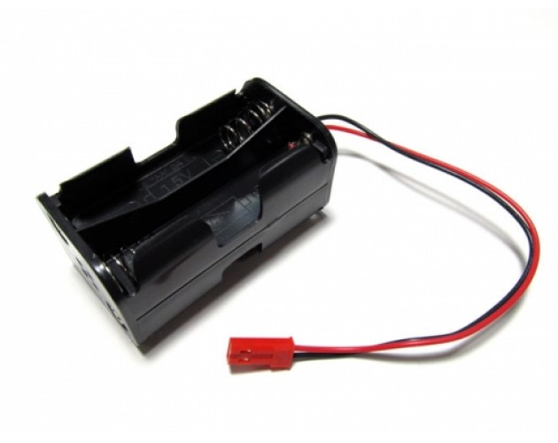 RC Battery Case Holder AA Size (2AX4) JST Male