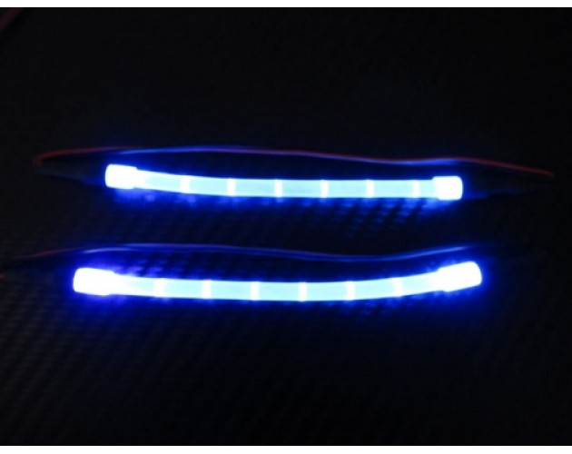 Ultra Bright LED Light Bar Set - 1 Pair With Adapter Blue