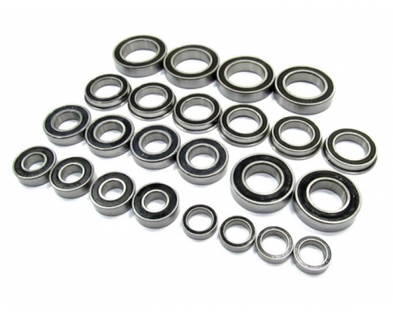 High Performance Full Ball Bearings Set Rubber Sealed (24 Total)