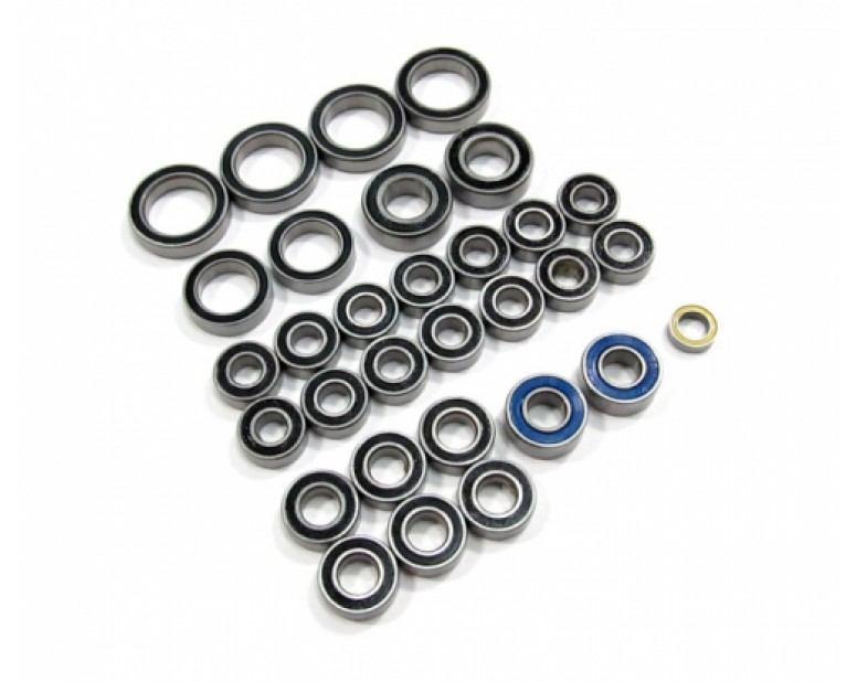 High Performance Full Ball Bearings Set Rubber Sealed (33 Total)