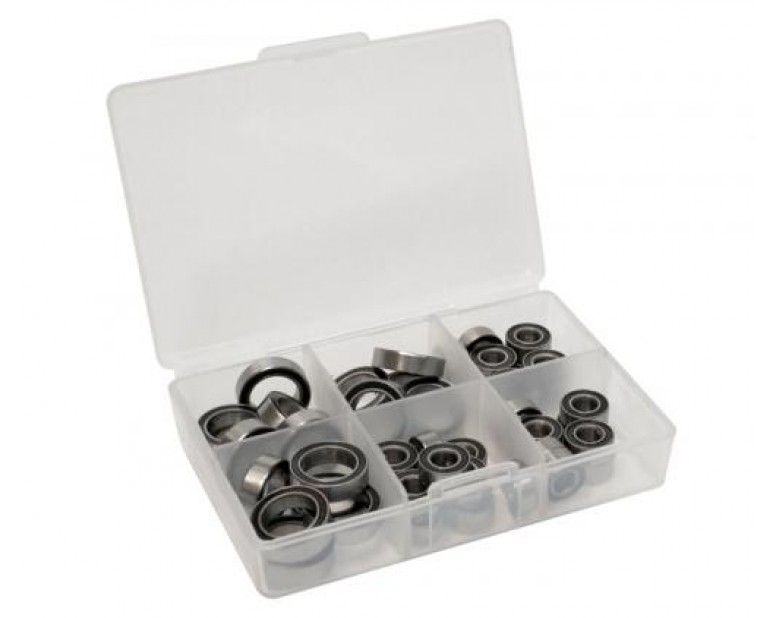 High Performance Full Ball Bearings Set Rubber Sealed (28 Total)