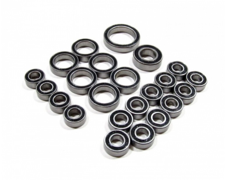 High Performance Full Ball Bearings Set Rubber Sealed (23 Total)