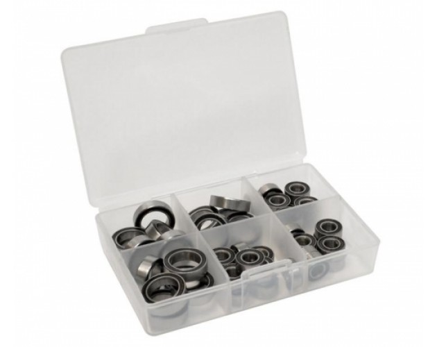 High Performance Full Ball Bearings Set Rubber Sealed (26 Total)